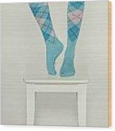 Burlington Socks Wood Print