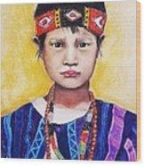 Burma Girl Wood Print