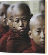 Burma Monks 2 Wood Print