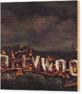 Burn This City Wood Print by Anthony Citro