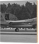 Burnin' F-15c Eagle  Wood Print