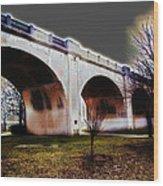 Burning Bridges Wood Print