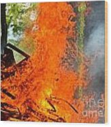 Burning Brush Wood Print