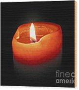 Burning Candle Wood Print by Elena Elisseeva