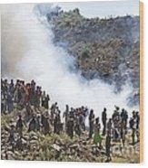 Burning Contraband Goods, Ethiopia Wood Print