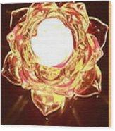 Burning Flower Wood Print
