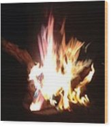 Burning For You Wood Print