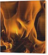 Burning Holly Wood Print