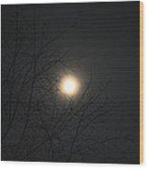 Burning In The Night Wood Print