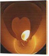 Burning Love Wood Print
