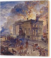 Burning Temple Of The Winds, 1856 Wood Print