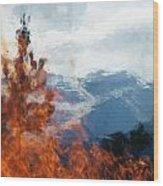 Burning The Winter Blues Away Wood Print