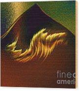 Burning Winds Across The Sahara  Wood Print