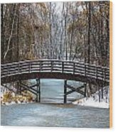 Burnsville Bridge Wood Print