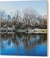 Burnsville Pond Wood Print