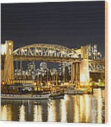 Burrard Bridge Vancouver Wood Print