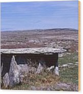 Burren Wedge Tomb Wood Print