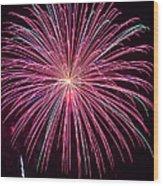 4th Of July Fireworks 24 Wood Print