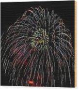 Burst Of Fireworks Wood Print