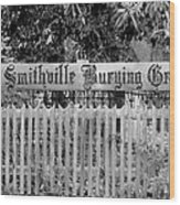 Burying Ground Wood Print