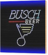 Busch And The Blues Edited Wood Print