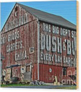 Bush And Bull Roadside Barn Wood Print