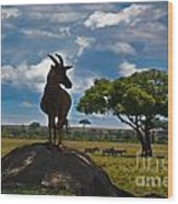 Bushbuck Guard Of The Mound   Wood Print