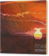 Bushveld Sunset Wood Print