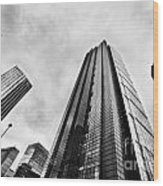 Business Architecture Skyscrapers In London Uk Wood Print
