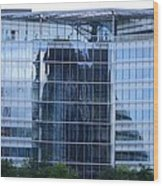 Business District Glass Building Wood Print