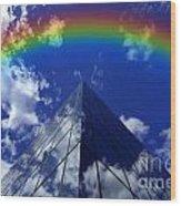 Business Rainbow And Rays Of Light Wood Print