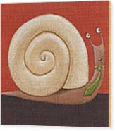 Business Snail Painting Wood Print