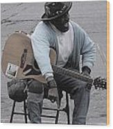 Busker With Style Wood Print