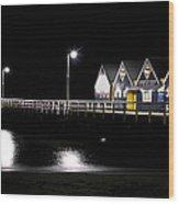 Busselton Jetty Wood Print by Niel Morley
