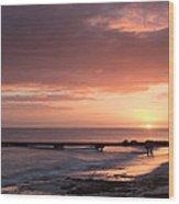 Busselton Sunrise Wood Print