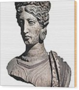 Bust Of A Woman. 4th C. Bc Wood Print