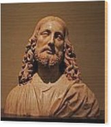 Bust Of Jesus Christ At Mfa Wood Print