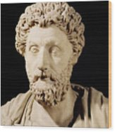 Bust Of Marcus Aurelius Wood Print