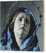 Bust Of Painful Virgin Wood Print