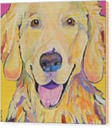 Buster Wood Print by Pat Saunders-White