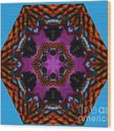 Busy  Bee Kaleidoscope Wood Print