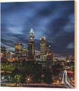 Busy Charlotte Night Wood Print