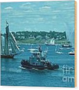 Busy Halifax Harbor During The Parade Of Sails Wood Print