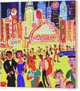 Busy Nightlife In New York City, United Wood Print