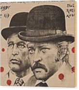 Butch Cassidy And The Sundance Kid Wood Print