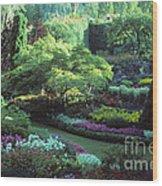 Butchard Gardens Vancouver Island Wood Print