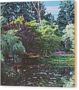 Butchart Gardens Is A Group Of Floral Display Brentwood Bay Wood Print
