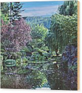Butchart Gardens Is A Group Of Floral Display Gardens British Columbia Canada 3 Wood Print