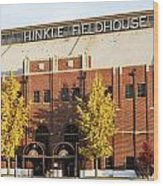 Butler Bulldogs Hinkle Fieldhouse In The Fall Wood Print