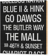 Butler College Town Wall Art Wood Print by Replay Photos